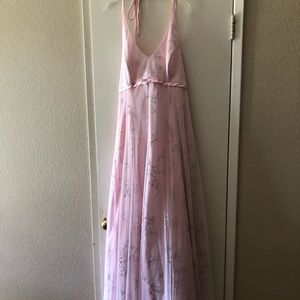 Formal Pink Sheer Dress